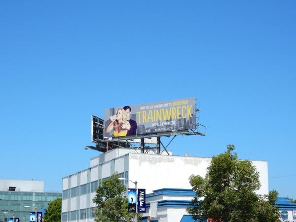 Trainwreck film billboard