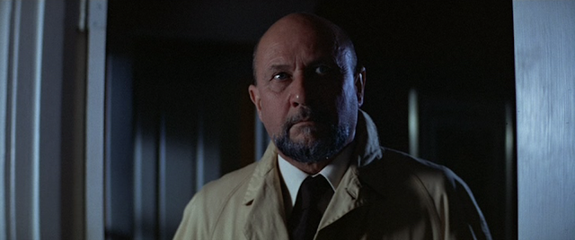 Donald Pleasence as Dr. Sam Loomis in HALLOWEEN (1978).