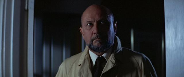 Donald Pleasence as Dr. Sam Loomis in HALLOWEEN (1978).