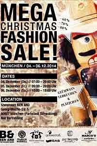 Gr. Kollektionsverkauf Mega-Christmas-Fashion-Sale in München ab 04.12.2014
