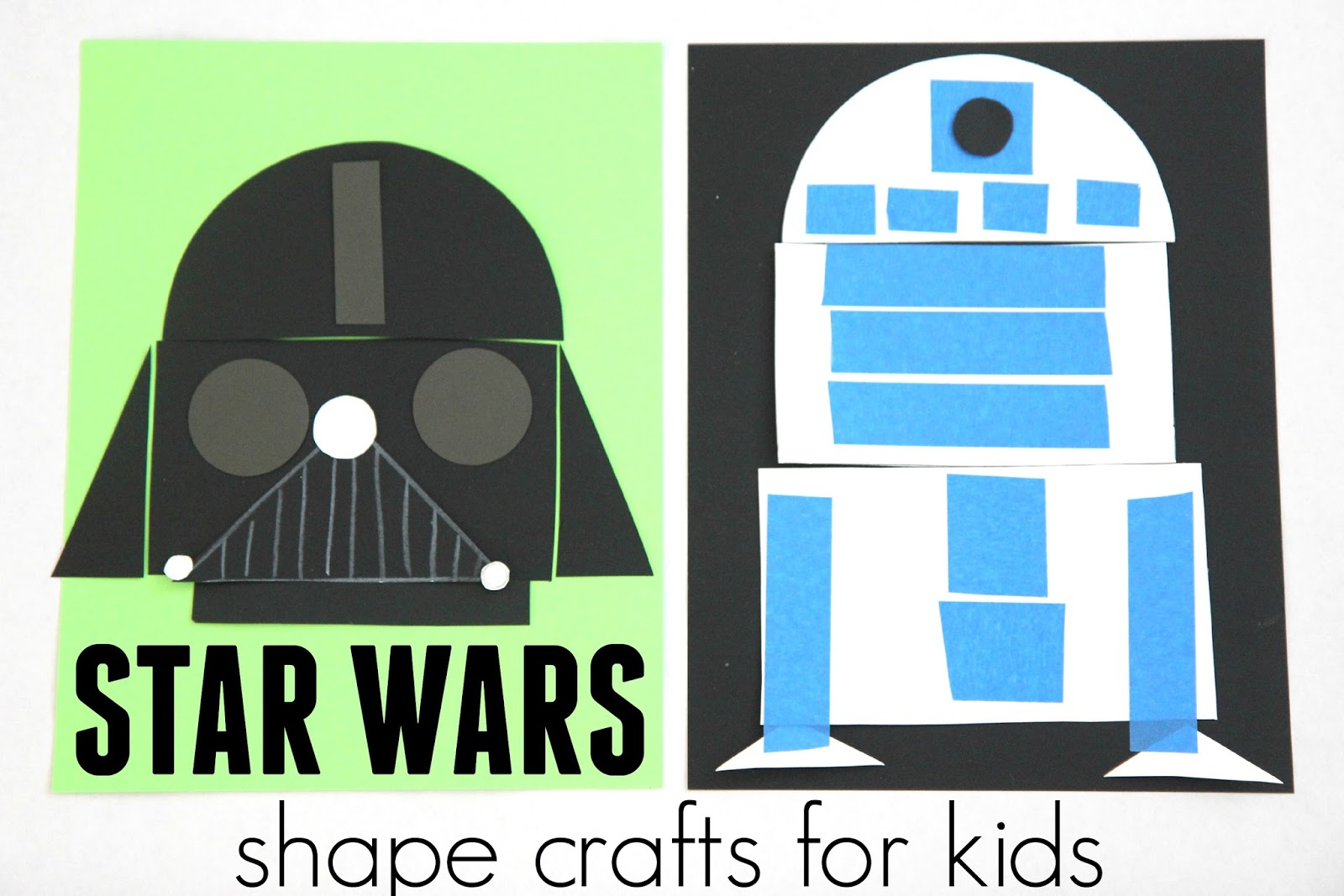 Toddler approved star wars shape crafts and lightsaber for Star wars arts and crafts