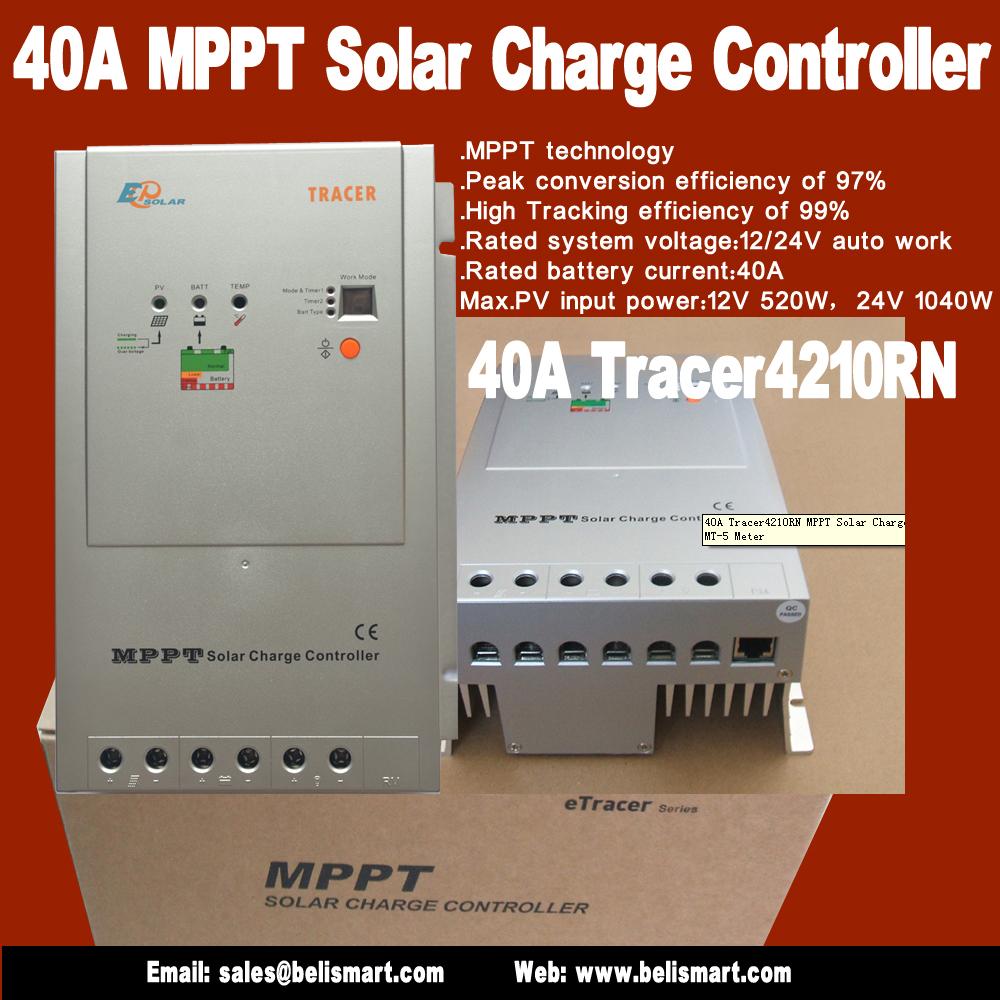 Belismartstore Belismartcom 40a Tracer4210rn Mppt Solar Charge Short Circuit Tracer Pv Array Over Discharging Charging Load Overload Reverse Polarity Battery