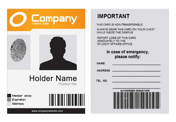 company id template 28 images modern simple id corporate – Blank Id Card Template