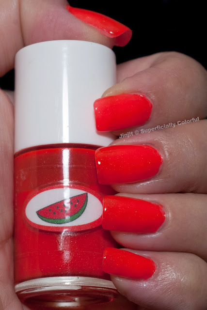 The Nail Junkie Shimmer Jelly Watermelon