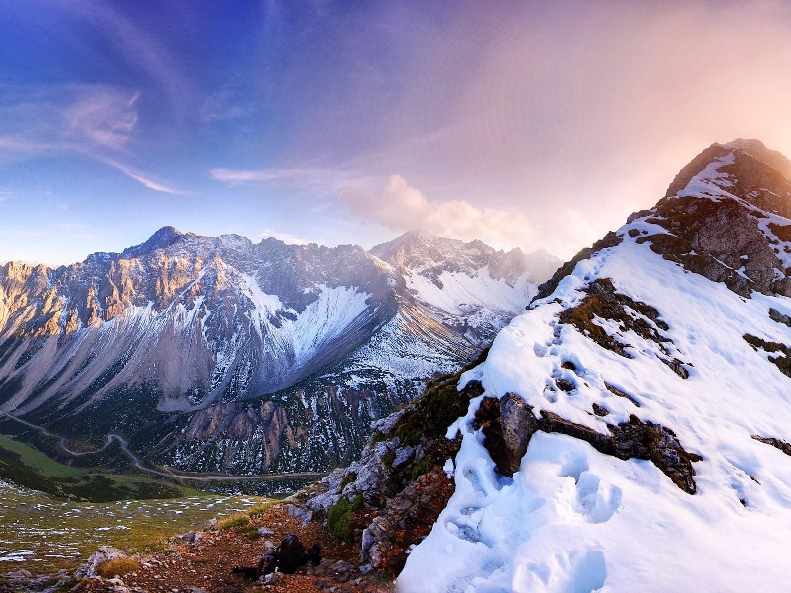 Panorama de las montañas Austria
