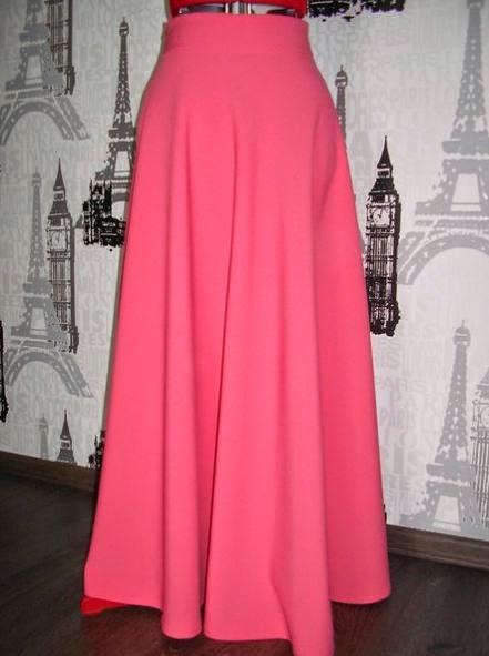 Длинная юбка в пол полусолнце как сшить 796