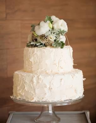 bolo das bodas de algodão bonito