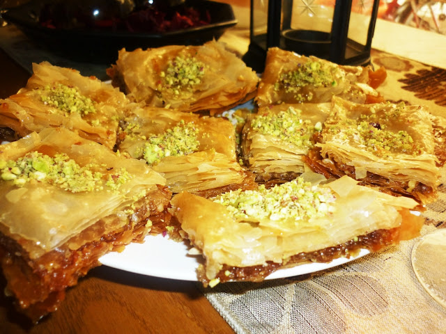 Baklava recipe for  turkish dessert