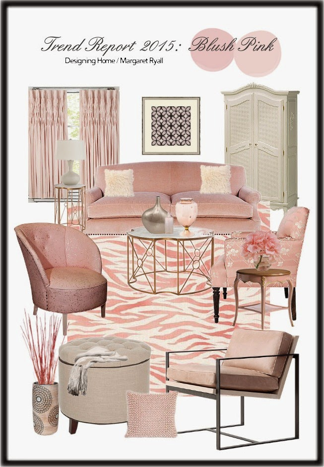 blush pink, decor trend 2015, blush pink furniture, blush pink accessories,
