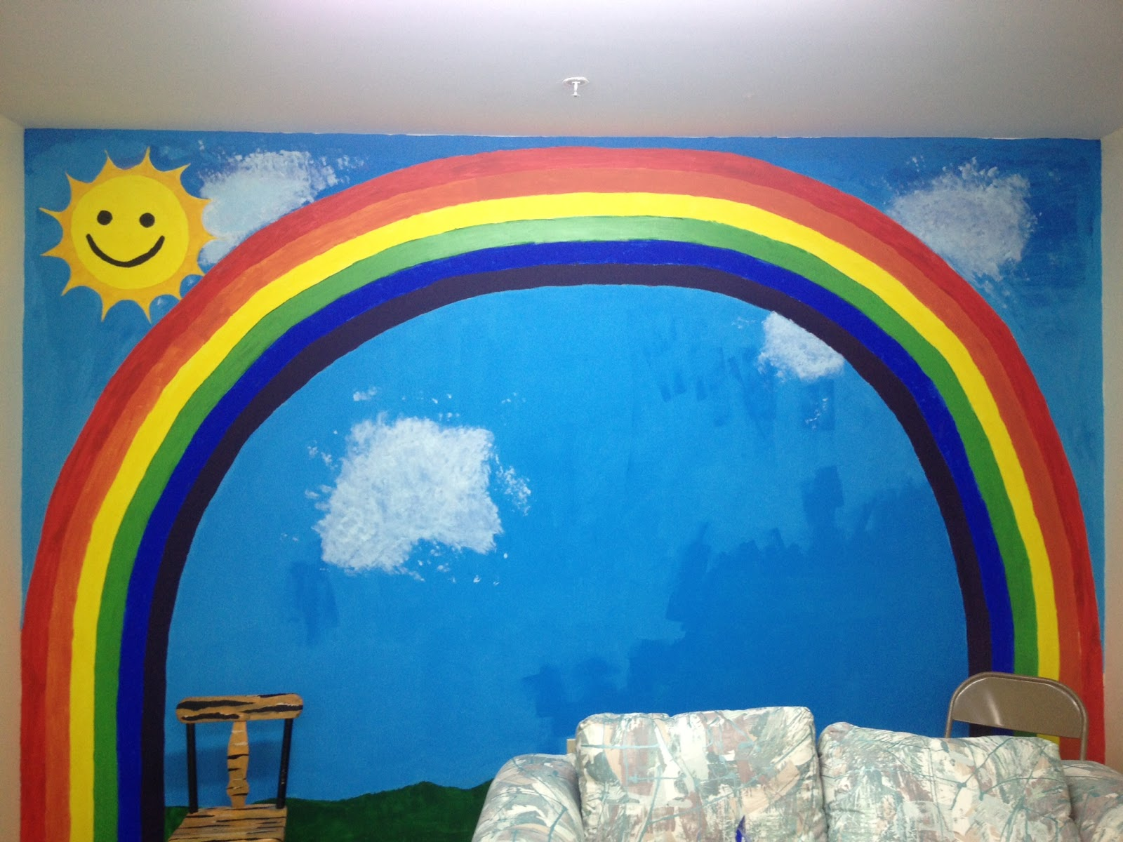 I Taught The Children How To Paint Their Hands And Make Handprints On The  Wall In The Nursery. The Older Children Wrote Their Names On The Mural ... Part 71