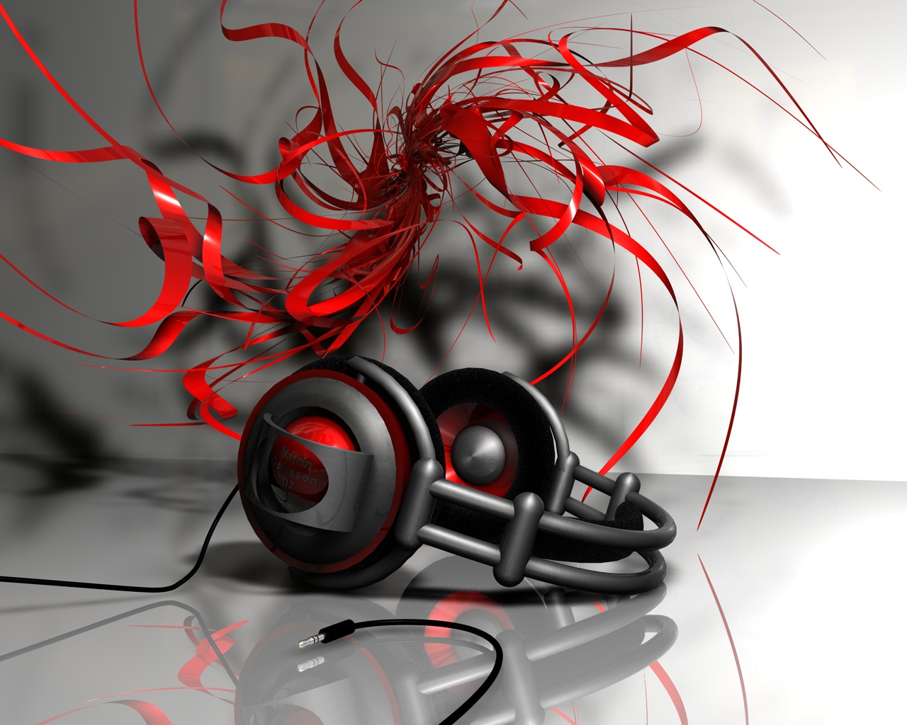 Abstract Music Headphones Wallpapers
