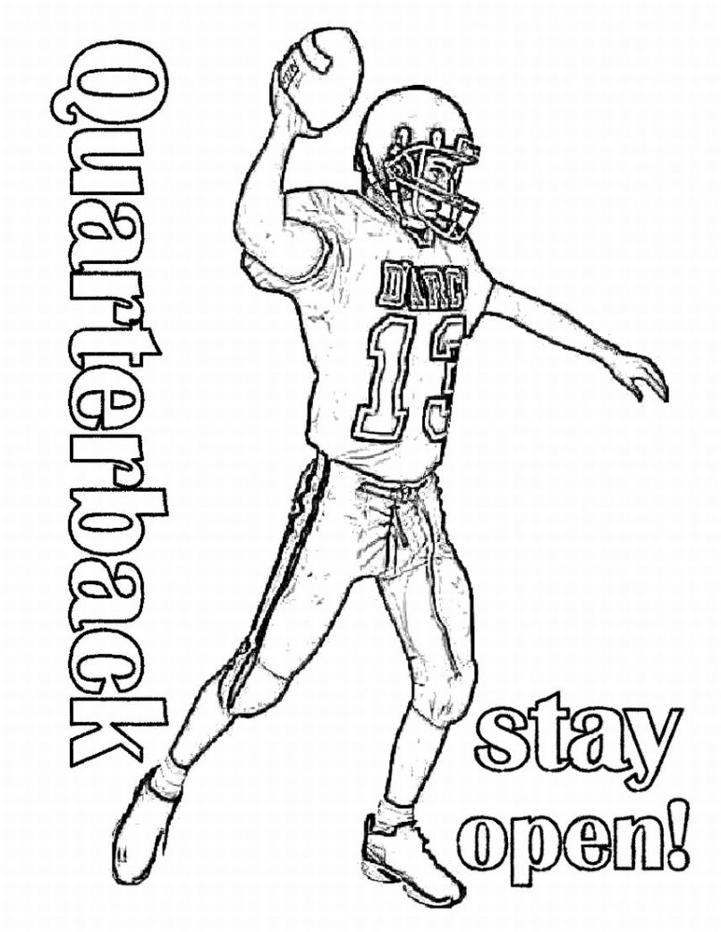 Football Coloring Pages Learn To