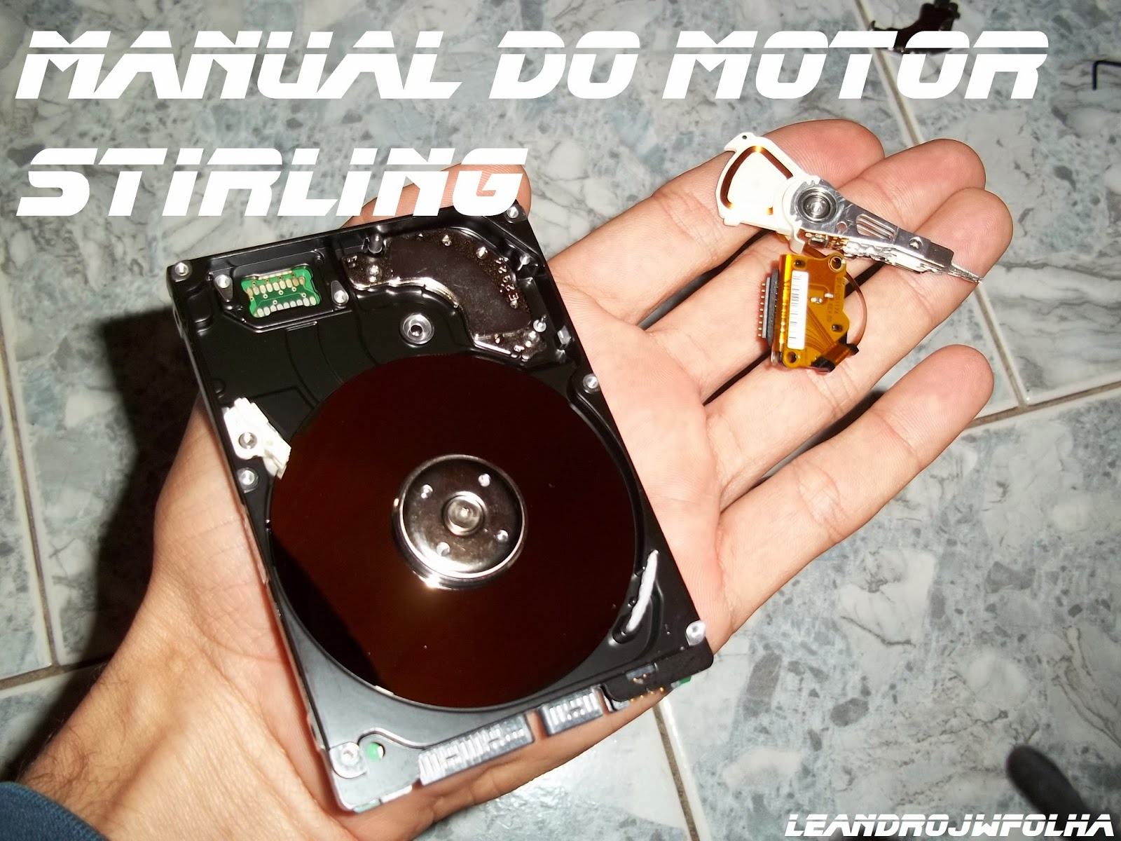 Manual do motor Stirling, HD de computador, para montagem biela do motor