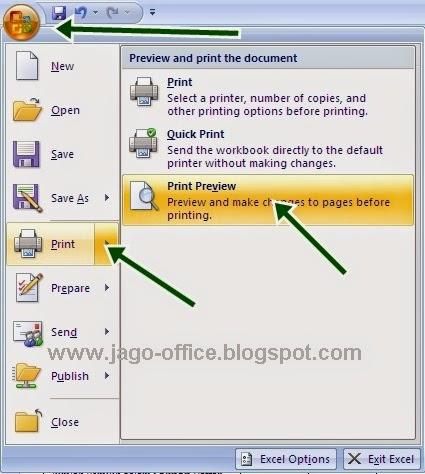 bagaimana mencetak di excel