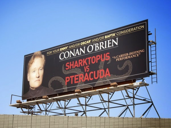 Conan O'Brien Sharktopus vs Pteracuda Emmy billboard