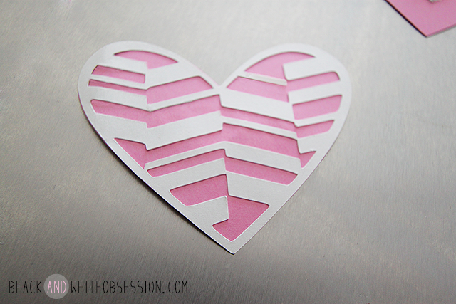 Free Cut File: DIY Valentine's Day Heart Magnets | Pink Geometric | www.blackandwhiteobsession.com