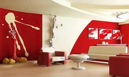 Muyameno.com: decoracion de salas rojas, parte 1