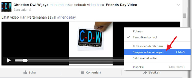 Cara Download Video Friends Day Facebook