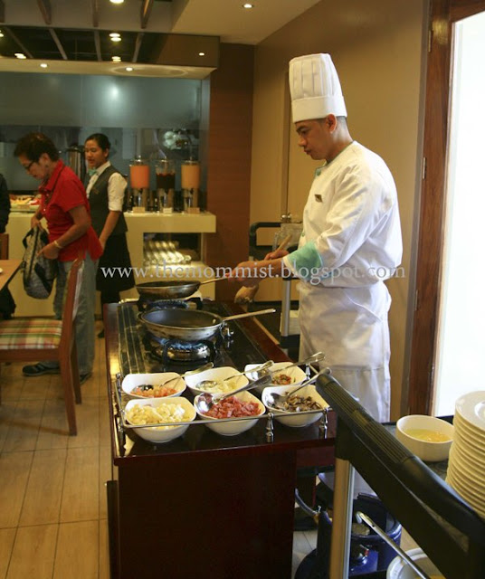 Omelet station at Azalea Residences buffet