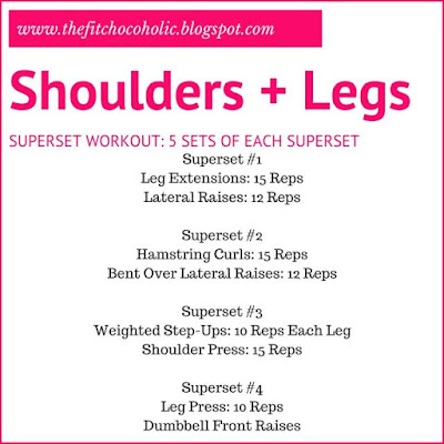 Shoulders + Legs Workout: A non traditional training split, but an awesome workout to beat gym boredom!