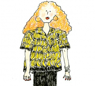 Grace Coddington cartoon
