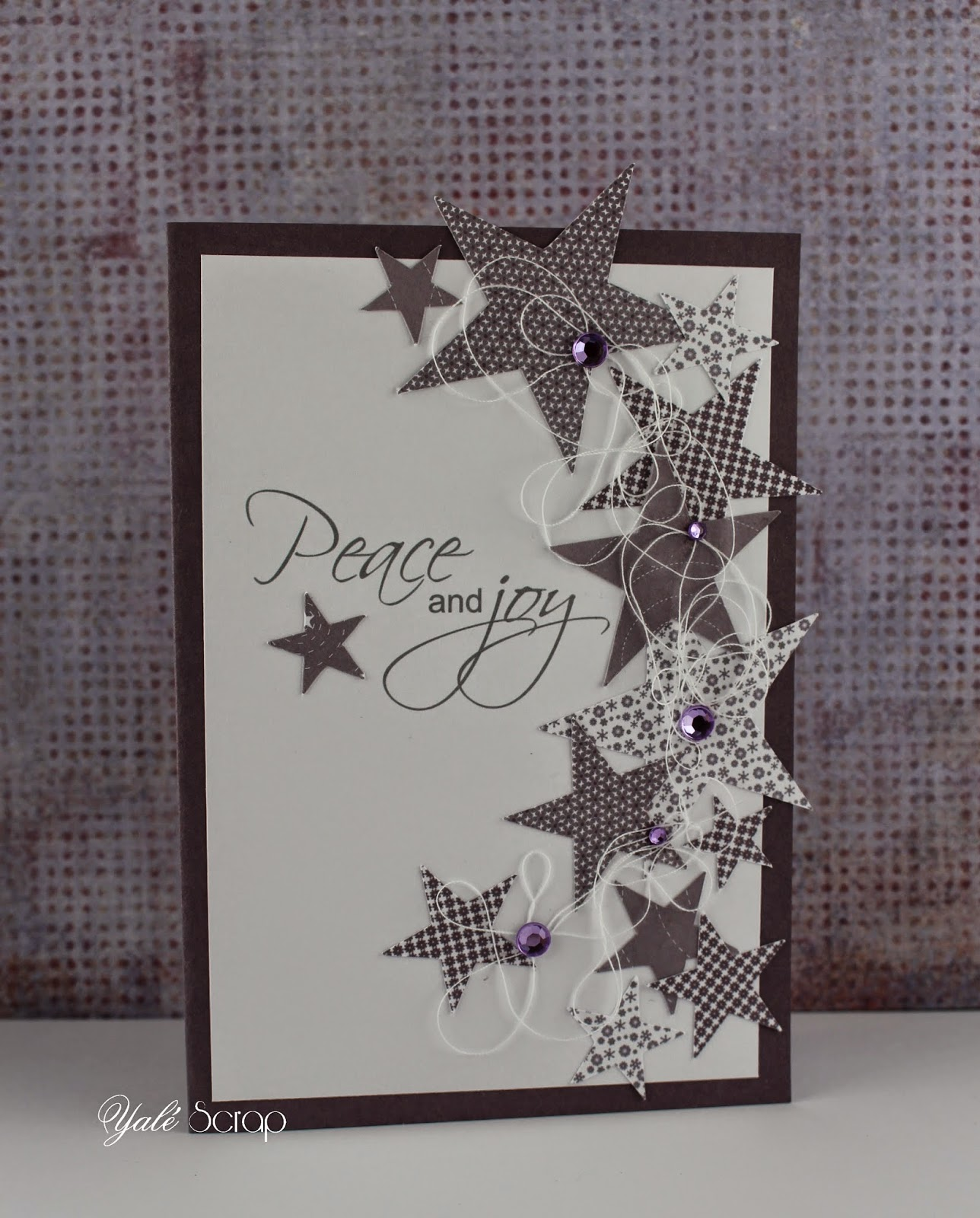 Histoire de scrap 39 carte peace and joy - Carte de voeux scrapbooking ...