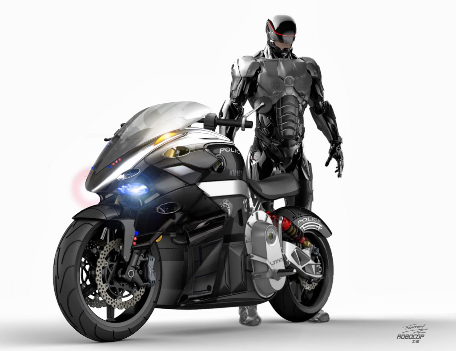 smokin robocop 2014 motorcycle concept art by tim