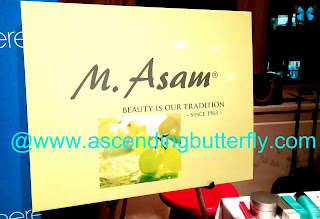 M. Asam Signage During Beauty Press Holiday Spotlight Day in New York City