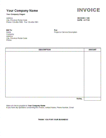 Contoh Invoice Terlengkap - Se-Contoh