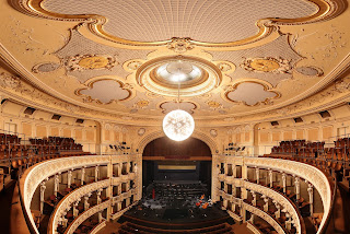 Auditorium of SND's historic building in Bratislava