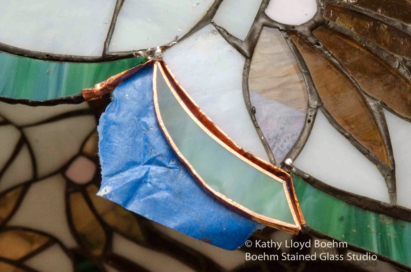 Boehm Stained Glass Blog: Daisy Tree Lamp Repair