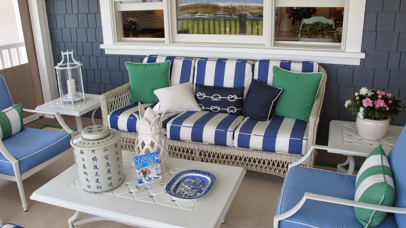 Nautical by Nature | Coastal Living Showhouse: Second Floor balcony