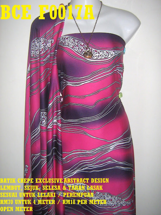 BCE F0017A: BATIK CREPE EXCLUSIVE ABSTRACT DESIGN