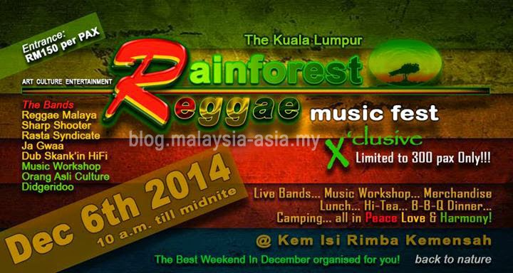 Rainforest Reggae Music Festival 2014 Malaysia