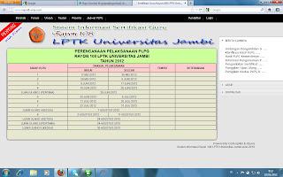 jadwal pelaksanaan PLPG (dapat diakses melalui menu Jadwal PLPG). Bagi