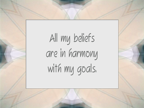 BELIEF affirmation