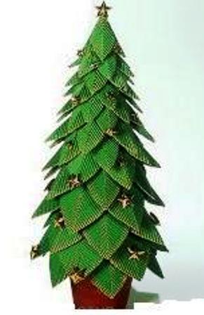 El tiempo entre tus manos peque o rbol de navidad en cart n - Arbol de navidad pequeno ...