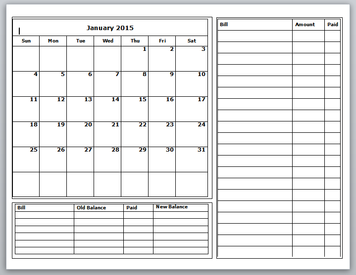 Download your Free Budget Calendars and be ready to tackle a new year!