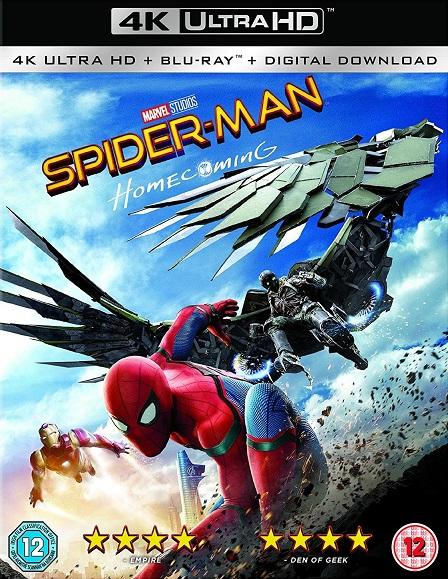 Spider-Man: Homecoming 4K (Spider-Man: De Regreso a Casa 4K) (2017) 2160p 4K UltraHD HDR BluRay REMUX 51GB mkv Dual Audio Dolby TrueHD ATMOS 7.1 ch