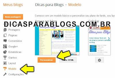 Personalizar Modelo do Blogger