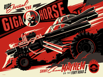 "New York Comic Con 2015 Exclusive Mad Max: Fury Road ""The Giga Horse"" Screen Print by Tom Whalen"
