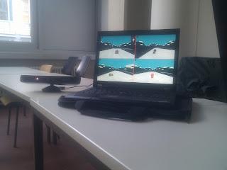User testing setup