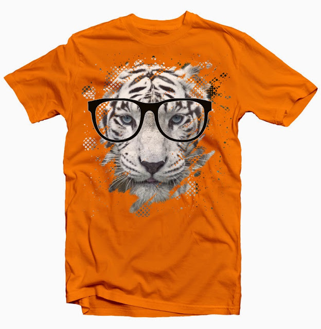 tiger eyeglasses tshirt design