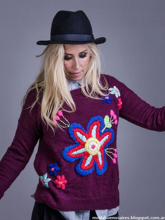 Linda Canaria otoño invierno 2015 moda invierno 2015. Sweaters de moda otoño invierno 2015.