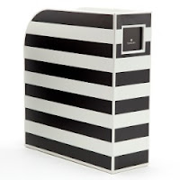 black and white striped  Semikolon Magazine File Box