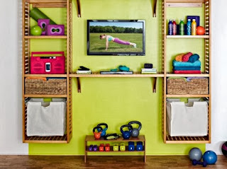 Decorate a home gym