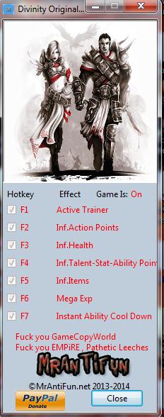 Divinity Original Sin V1.0.47.0 Trainer+8 MrAntiFun