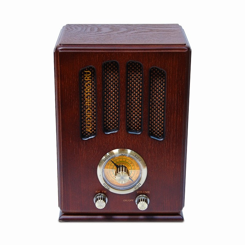 Ретро радиоприемник AM FM Elta 1234PW вишня (cherry)