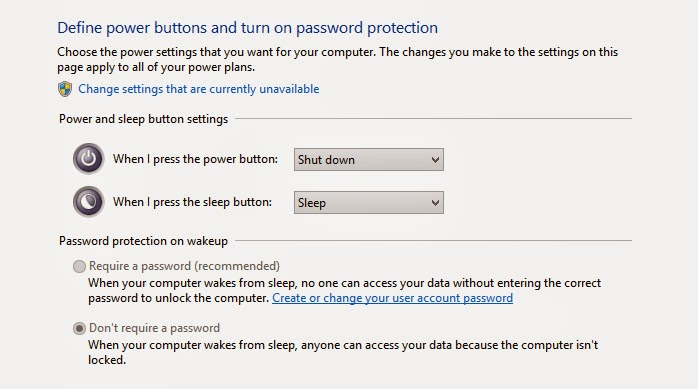 Customize Windows 8.1 Power Buttons and Shutdown Shortcut Settings