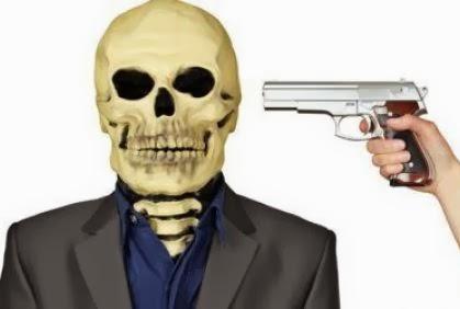 أغرب 5 طلبات أخيرة قبل تنفيذ حكم الإعدام - مسدس موجه مصوب جمجمة هيكل - gun pistol skull aim